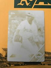 SEAN MANAEA 2016 TOPPS PRO DEBUT PRINTING PLATE, MIDLAND ROCKHOUNDS, OAKLAND A'S