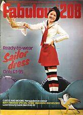 FABULOUS 208 UK magazine 18-3-72 Tony Curtis Roger Moore G Best D Cassidy