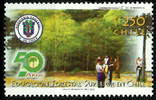 CHILE, 50 YEARS FORESTRY SUPERIOR EDUCATION, MNH, YEAR 2002