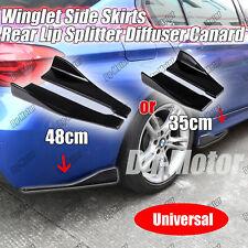 Universal Winglet Side Skirt Rear Splitter Diffuser Spoiler Canard Apron 2Pcs