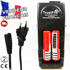 2 PILES ACCUS RECHARGEABLE 18650 3.7V 6800mAh + CHARGEUR TR-001 TRUSTFIRE RAPIDE