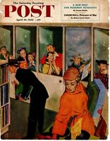 1952 ORIG VINTAGE SATURDAY EVENING POST MAGAZINE COVER ONLY BY THORNTON UTZ
