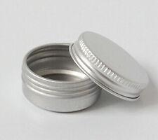 50pcs Aluminum Cosmetic Jar Cream Empty Bottle Containers Jars Pill Box 0.3OZ