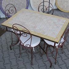 mosaico mesa de comedor 120 x 80cm Muebles jardín Orient NUEVO