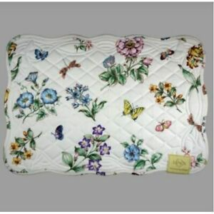 Lenox Butterfly Meadow Set/4 Quilted Multi-Color Placemats