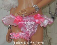 Sian Ravelle Sissy Pink Angel Tutu Full Bum Satin Lined Frilly Designer Knickers