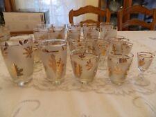 Libby Glassware Gold Leaf Set for (6) 7-5