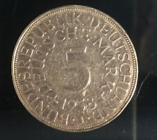 Münze Bundesrepublik Deutschland 5.- DM Silberadler 1958 J Heiermann