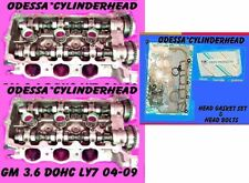 PAIR GM 3.6 DOHC STS SRX CTS LY7 CYLINDER HEADS 04-09 BOLTS & GASKETS REBUILT