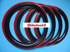 "ATLAS Brand 15"" Black Red Wall Portawall Tire insert Trim set 4 pcs"