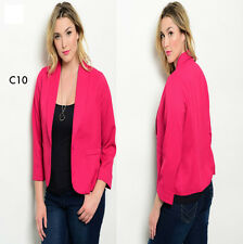 C10 New Womens Pink Plus Size 18/20 Warm Summer Blazer Vests Jackets Work Office