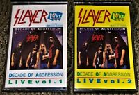 Slayer ‎– Decade Of Aggression Live 2 VG Cassette Tapes Play Well Thrash Metal