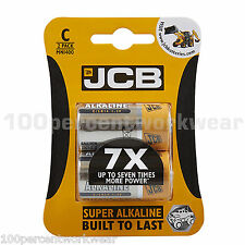 1 x 2 Pack of C LR14 1.5V JCB Super Alkaline Batteries for RC Cars Radios Torch
