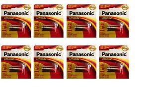 8 Count Panasonic CR123A CR 123 3V Lithium Battery FRESH