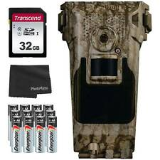 Bushnell Impulse Cellular Trail Cam 20MP, AT&T + 32GB SD Card, Batteries & Cloth