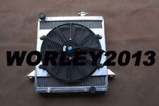 2 core aluminum radiator & fan for Triumph TR6 1969-1974/TR250 1967 1968