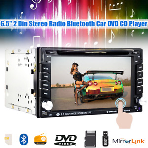 6.5inch 2 Din Car DVD CD Player Stereo Radio Tuner Bluetooth Mirror Link In-Dash