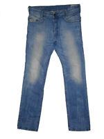 Special Edition Diesel POIAK 0816P Slim Tapered W31 L32 Mens Blue Denim Jeans