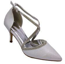Zapatos de Novia Noche Zapatos Plata Con Tiras Muy Noble 6324- 115
