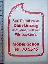 Aufkleber Sticker - Möbel Schön - Umzug - Transport (1722)