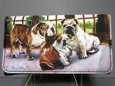 New BullDog Check Book Wallet (No Zip) by Ruth Maystead Bull Dog Dogs Free Ship