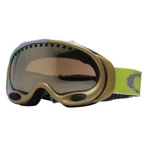 Oakley 57-068 A Frame Gretchen Bleiler Gold Swoop Womens Snow Ski Goggles .