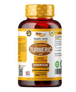 TURMERIC CAPSULES SUPPLEMENT HIGH STRENGTH WITH GINGER AND BLACK PEPPER 1440MG