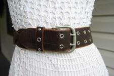 ESPRiT SYRUP BROWN WOVEN LEATHER DRESS BELT - M