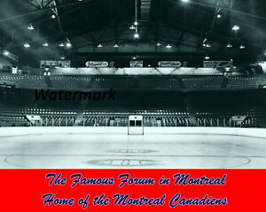 NHL 1950's Inside View Famous Montreal Forum Montreal Canadiens 8 X 10 Photo Pic