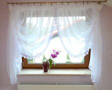 LB-11 Fertiggardine aus Voile Weiß Fenstergardine Gipüre 150x400cm Gardine Schön