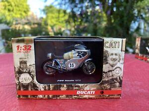 Newray Diecast Motorbike - Ducati 750 Imola 1972 Replica 1:32 Scale Silver/Blue