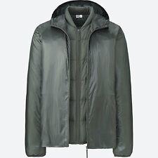 LEMAIRE 'U' x UNIQLO '2-Way Down Parka' Men's Jacket / Vest 2-in-1 M Olive *NWT*