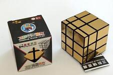 SHENGSHOU MIRROR GOLD 3x3x3 Magic Cube Speed Puzzle