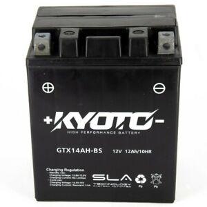 Batterie YTX14AH-BS / GTX14AH-BS 12V 12Ah SLA Kyoto prête à l'emploi