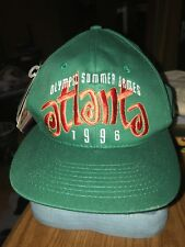 VTG 1996 ATLANTA OLYMPIC SUMMER GAMES GREEN SNAPBACK HAT CAP NWT