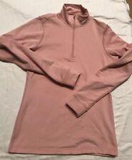 f8aaebb10a3bd7 Nike Fit Dry Women s Running Jacket 1 2 ZIP Warm Shirt Long Sleeve Pink Top