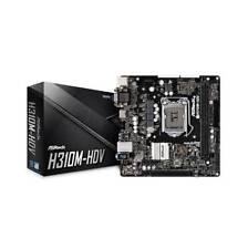 ASRock H310m-hdv Intel H310 LGA 1151 SATA 6gb/s USB 3.1 HDMI 4k mATX Motherboard