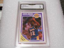 Magic Johnson GRADED CARD!! Mint 9!! 1989 Fleer #77 Lakers HOFer! 9-1!