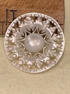 Vintage carved MOP snowflake button