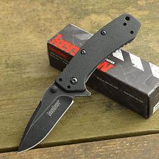 Kershaw Cryo Hinderer 8Cr13MoV Backwashed G-10 Handle Framelock Knife 1555G10BW