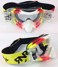 RIP N ROLL MOTOCROSS ENDURO MX lunettes de protection hybride RnR PSYCHO JAUNE