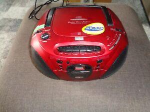 Tragbarer CD Player - FM Radio - Kassetten Recorder - Tamashi 158 rot