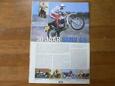A726- MX MOTOCROSS ARTICLE  30 JAAR BMW GS 1980-2010 PARIS-DAKAR