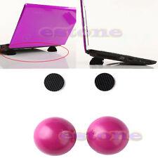 Cooling Cooler Stand Ball Laptop Notebook Antiskid Leg Skidproof Pad Hot Pink