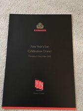 Menu Cards Cunard Ship Collectables