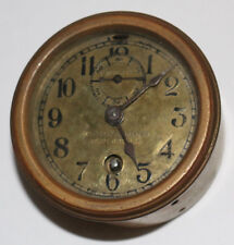 Chelsea Warner Instrument Co. early 20th century antique brass auto/car clock