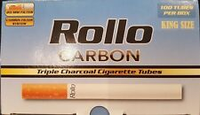 1000 NEW CARBON TRIPLE FILTER EMPTY ROLLO TUBES Cigarrette Tobbacco