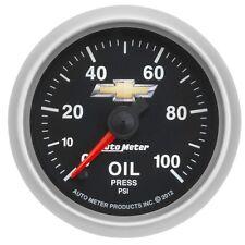 "Auto Meter 880447 2-1/16"" Oil Pressure Gauge Stepper Motor For GM Copo Camaro"