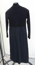 Robe Noire Manches Longues Bi Matière Mia Soana Taille 36