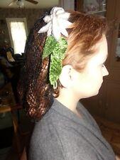 Victorian Attire Civil War Hair Lace Fancy 19th Century Accessory Headwear New